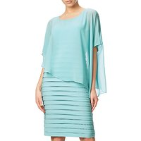 Adrianna Papell Banded Dress With Chiffon Overlay, Sky