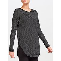 Maison Scotch Long Sleeve Stripe T-Shirt, Black