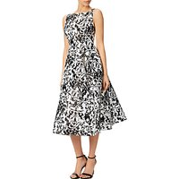shop for Adrianna Papell Sleeveless Printed Mikado Party Dress, Black at Shopo