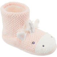 John Lewis Childrens Unicorn Slipper Boots, Pink