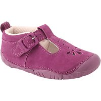 Start-rite Baby Bubble T-bar Leather Shoes, Berry