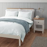 John Lewis Eton Stripe Jacquard Cotton Duvet Cover and Pillowcase Set