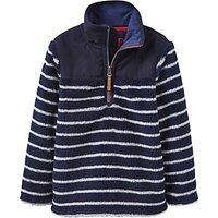 Little Joule Boys Woozle Stripe Fleece, Navy