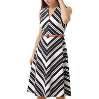 Fenn Wright Manson Petite Copenhagen Dress, White/Black