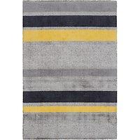 John Lewis Scandi Carla Stripe Rug, Grey/Yellow