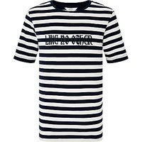 John Lewis Childrens Like No Other T-Shirt, Navy/White