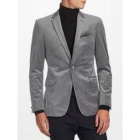 Kin by John Lewis Notch Velvet Jacket, Grey