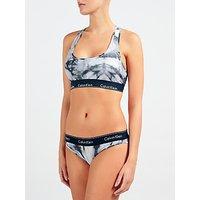 Calvin Klein Underwear Modern Cotton Bleach Dye Bralette, Grey