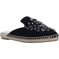 Carvela Keep Backless Espadrilles, Black