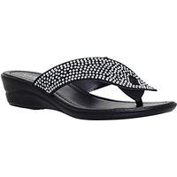 Carvela Comfort Sunny Embellished Wedge Heeled Sandals, Black