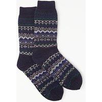 John Lewis Fairisle Lounge Socks  Blue Multi