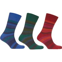 John Lewis Twisted Stripe Socks, Pack of 3, Multi