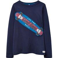 Little Joule Boys Junior Wild Side Print Sweatshirt, Navy