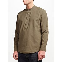 JOHN LEWIS & Co. Half Placket Linen Shirt, Green