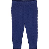 John Lewis Baby Cable Knit Leggings, Navy