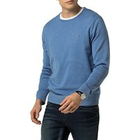 Tommy Hilfiger Cotton Silk Crew Neck Jumper, Ultramarine Heather