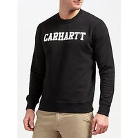 Carhartt WIP College Sweatshirt, Black/White