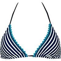 Watercult New Nautical Triangle Bikini Top, Blue