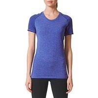 Adidas Primeknit Running Wool T-Shirt, Blue