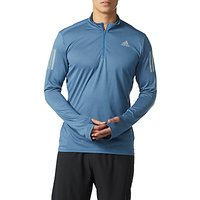 Adidas Response Long Sleeve Running Top, Blue