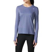 Adidas Supernova Long Sleeve Running T-Shirt, Super Purple