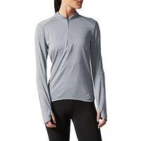 Adidas Response Long Sleeve Running T-Shirt, Grey