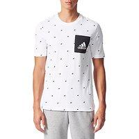 Adidas Essentials Graphic Pocket T-Shirt, White