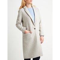 Samsoe and Samsoe Cava Wool-Blend Coat, Light Grey Marl