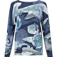 Gerry Weber Long Sleeve Jumper, Blue/Green