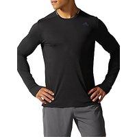 Adidas Supernova Long Sleeve Running T-Shirt, Black