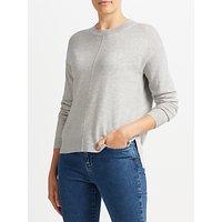John Lewis High Crew Sweater, Grey Donegal