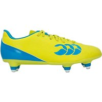 Canterbury of New Zealand Childrens Speed 6 Stud Football Boots, Yellow/Blue