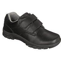 John Lewis Childrens Surrey Double Rip-Tape Shoes, Black