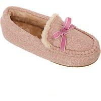 John Lewis Childrens Sheepskin Moccasin Slippers, Pink