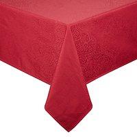 John Lewis Zari Cotton Tablecloth, Red