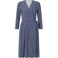 Weekend MaxMara Dacia Check Print Jersey Dress, Ultramarine