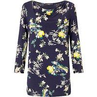 Weekend MaxMara Ornato Floral Print Jersey Top, Ultramarine