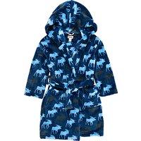 Hatley Childrens Moose Fleece Robe, Blue