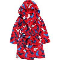 Hatley Childrens Dinosaur Fleece Robe, Red