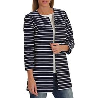 Betty Barclay Striped Coat, Blue/White