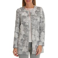 Betty & Co. Tapestry Weave Coat, Grey/White