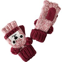 John Lewis Childrens Novelty Bear Flip Gloves, Brown