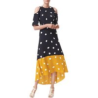 L.K. Bennett Leia Spot Print Silk Dress, Navy/Multi