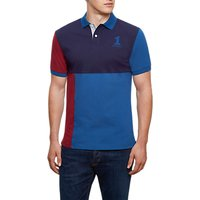 Hackett London Quad Number Polo Shirt, Burgundy