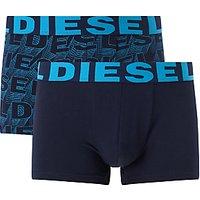 Diesel Logo Trunks, Pack of 2, Navy