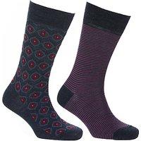 John Lewis Made in Italy Merino Wool Blend Socks, Navy