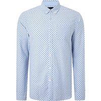Scotch & Soda Long Sleeve Blauw Shirt
