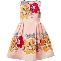 John Lewis Heirloom Collection Girls Large Floral Print Dress, Evening Sand