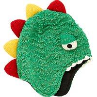 John Lewis Childrens Dinosaur Trapper Hat, Green