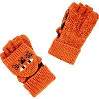 John Lewis Children's Tiger Flip Gloves, Orange